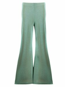 M Missoni jersey knit flared trousers - Green