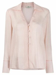 Fendi V-neck textured shirt - Pink