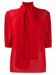 Blumarine x Salvatore Piccione funnel-neck fitted blouse - Red