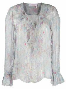 See By Chloé floral-print chiffon blouse - Grey