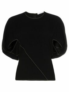 Rejina Pyo Marcie cape sleeve top - Black