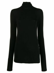 Styland stretch fit roll neck sweatshirt - Black
