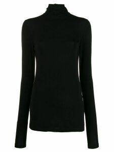 Styland stretch fit roll neck sweatshirt - Black