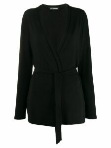 Styland belted lightweight cardigan - Black