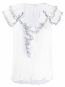 See by Chloé ruffle short-sleeve blouse - White