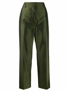 Marni pleated cropped trousers - Green