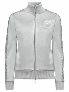 Fendi Fendi Prints On metallic zipped sweatshirt - SILVER
