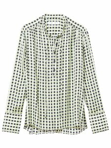 Proenza Schouler White Label Multicolor Georgette Long Sleeve Blouse -