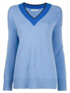 Chinti and Parker v-neck knitted jumper - Blue