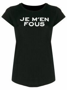 Zadig & Voltaire Je M'en Fous print T-shirt - Black