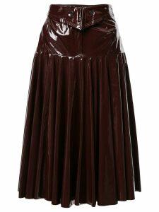 Palmer//Harding A-line midi skirt - Red