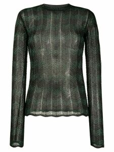 M Missoni zig zag lurex jumper - Black