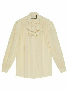 Gucci jabot-detail shirt - White
