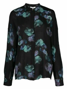 Vince floral long-sleeve blouse - Black