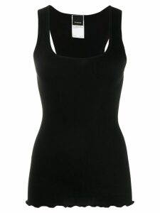 Pinko scoop-neck ribbed tank top - Black