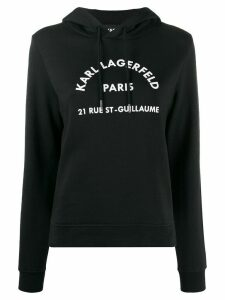 Karl Lagerfeld address logo hoodie - Black