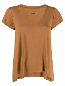 Styland deep v-neck T-shirt - Brown