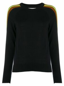Chinti & Parker contrast panel jumper - Blue