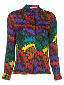 Alice+Olivia Willa placket top - Multicolour