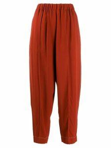 Marni high-rise elasticated trousers - ORANGE