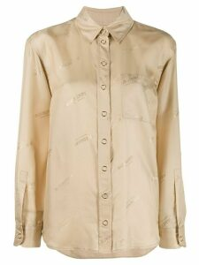 Burberry all-over logo print shirt - NEUTRALS