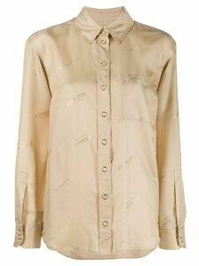Burberry all-over logo print shirt - NEUTRALS