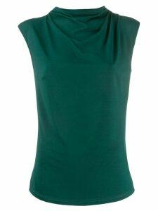 Styland draped design blouse - Green