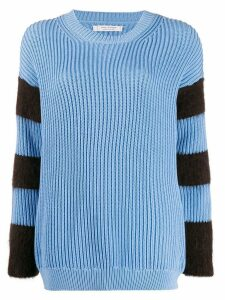 Chinti & Parker striped ribbed-knit jumper - Blue