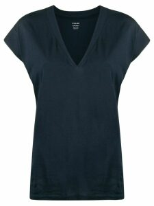 FRAME V-neck T-shirt - Blue
