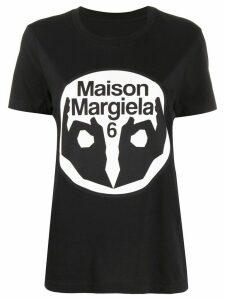 Mm6 Maison Margiela logo print T-shirt - Black