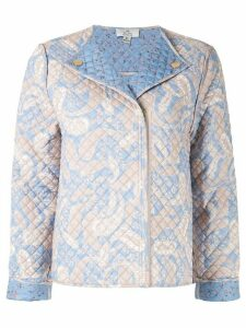 We Are Kindred Sorrento quilted biker jacket - Blue
