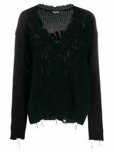 Dsquared2 distressed effect jumper - Black