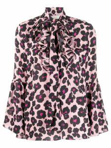 La Doublej x Mantero Carmen Flower Leopard Rosa shirt - PINK