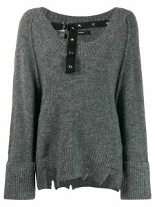 Diesel M-Marikax distressed jumper - Grey