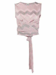 M Missoni knit wrap top - PINK