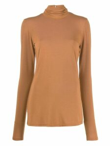 Styland stretch fit roll neck sweatshirt - Brown