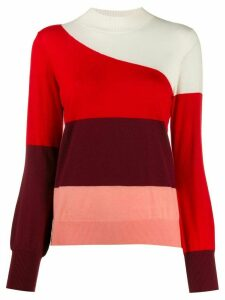 Chinti and Parker striped knitted jumper - Red