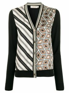 Tory Burch print detail cardigan - Black