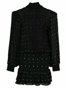 Retrofete embroidered long-sleeve blouse - Black