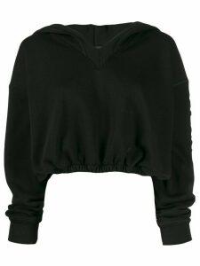 Styland logo printed hoodie - Black