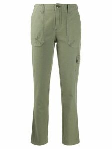 FRAME slim-fit cargo-style trousers - Green