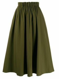 Marni pleated waist midi skirt - Green
