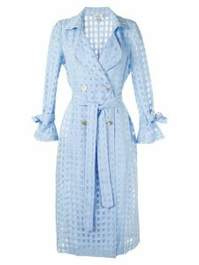We Are Kindred Valencia sheer trench coat - Blue