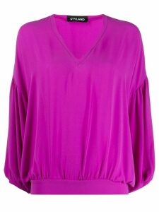 Styland v-neck long sleeved top - PINK