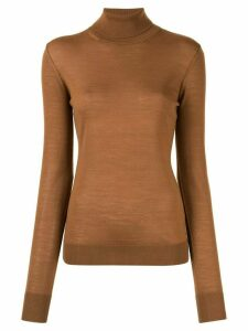 Ports 1961 skinny fit polo neck - Brown