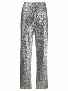 Norma Kamali striped-side sequin trousers - SILVER