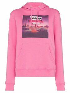 Paco Rabanne key print hoodie - PINK