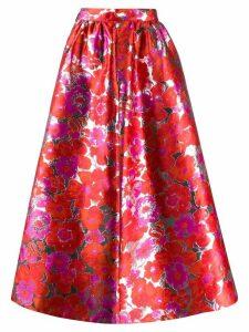 MSGM floral full skirt - Red