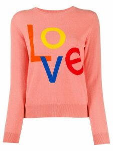 Chinti and Parker 'Love' cashmere knit jumper - PINK