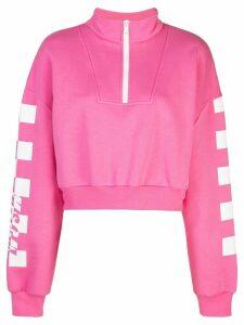 MSGM graphic print sweatshirt - PINK